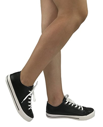 The Top Canvas Shoes Lo Leather All Sports Womens Sneakers Collection Faux Taylor Black rA1Bxwqrg