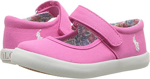Polo Ralph Lauren Kids Baby Girl's Pippa (Toddler) Baja Pink Canvas/White Pony Player 4 M US Toddler
