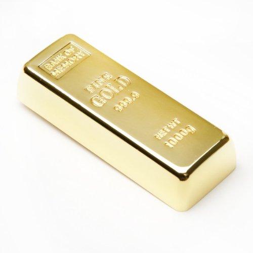 aricona 16 GB USB Stick in Goldbarren Metall Form - 2.0 Flash Drive Speicher – coole Memory Sticks & lustige Geschenke – origineller und witziger Motiv Speicherstick