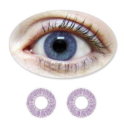 Farbige Kontaktlinsen 3-Monatslinsen Fun BIONORA Violet /Violette /Lilane mit oder ohne Stärken