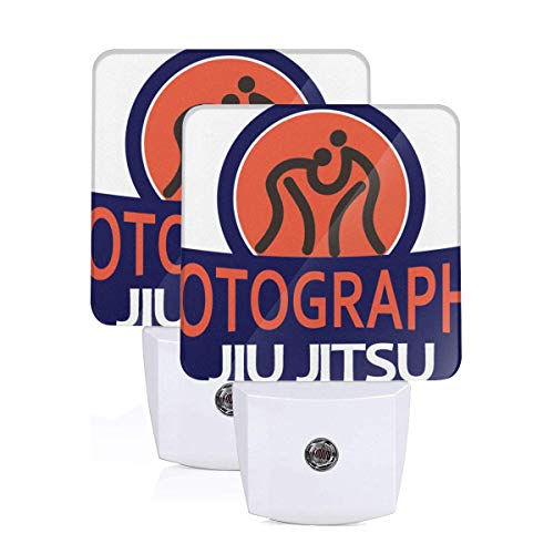 Judo Throw Jiu Jitsu Competition 2 Packs Printing LED Night Light Kumite,budo,Judo Moves Exellent in Workmanship Night-Light US