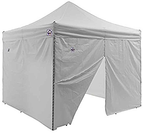 Impact Canopy 10 x 10 Instant Pop Up Canopy Tent, Instant Sun and Rain Shelter Canopy Sidewalls and Frame and Canopy Accessories Included, White