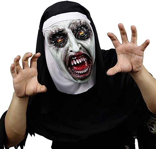 Nun Costumes Nz - The Nun Horror Mask Cosplay Scary