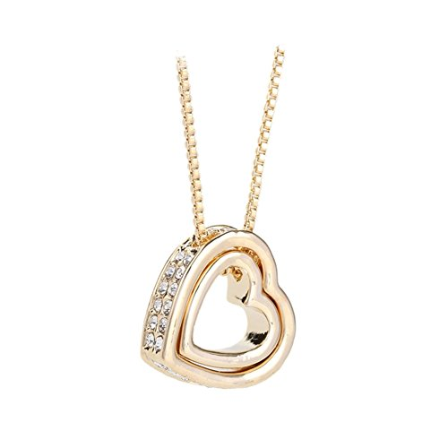 NL-12040C3 Alloy Inlaid Crystal Women's Necklace