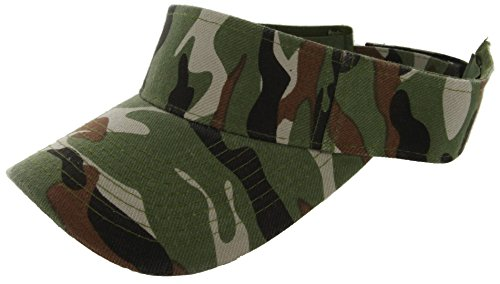DealStock Plain Men Women Sport Sun Visor One Size Adjustable Cap (29+ Colors) (Camo)