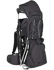 G-on Kinder Baby Rückentrage I stabiler Tragerucksack für Babys und Kinder bis 25kg I geringes Eigengewicht I hoher Tragekomfort I Für Wandern Trekking Reisen I Kindertrage schwarz