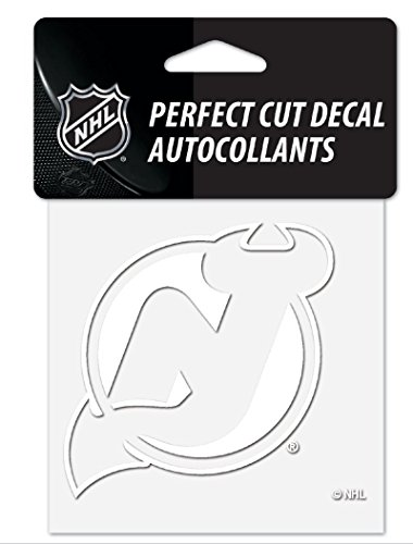WinCraft NHL New Jersey Devils 4″x4″ inch White Decal Sticker – DiZiSports Store
