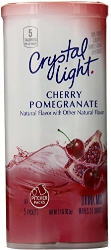 - Crystal Light Cherry Pomegranate, 10-Quart 2.2-Ounce Canister (Pack Of 6)