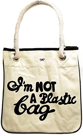 39a606b53eb Image Unavailable. Image not available for. Color  Im I m not a plastic bag  in Tote Shopping ...