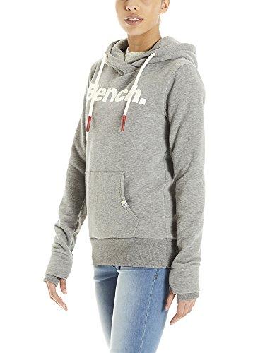 Bench Her. Corp Print Hoody, Capucha para Mujer Gris (Winter Grey Marl Ma1054)