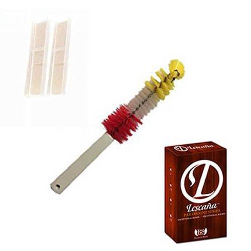 Lescana Paramount Series Clarinet Reeds 2 PACK (Size 2.5) with Bonus Clarinet Mouthpiece Brush