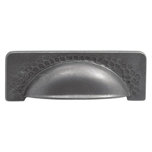 Hickory Hardware P2174-BI Craftsman Cabinet Cup Pull, 3.78-Inch, Black Iron