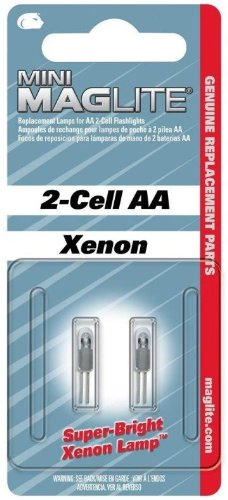 Xenon Lamp for Mini Mag-Lite AA Flashlight [Set of 5]