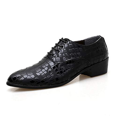 - Men Formal Dress Shoes Snake Skin Fashion High Heels Comfortable Oxford Shoes