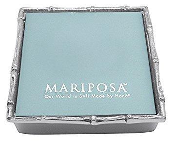 MARIPOSA Bamboo Napkin Box with Insert, Silver