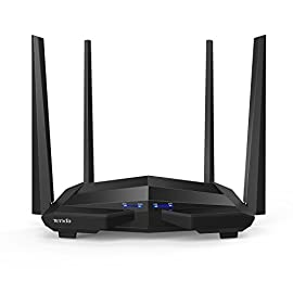 Tenda AC10U Smart Gigabit Wi-Fi Router AC1200 Dual Band w/Parental Control + MU-MIMO + Smart WiFi App Management + USB Port 16 Stream in 4K on multiple devices and get lightning-quick connections by upgrading to Tenda's enhanced 1200 Mbps high speed Wi-fi technology (300mbps@2. 4GHz +867Mbps@5GHz) Link up to 30 wireless devices like the Google assistant, Alexa and various steaming devices, simultaneously, while maintaining optimum network conditions 4 omni-directional antennas with beamforming and Mu-Mimo technology, deliver high-speed internet throughout your home and provide seamless coverage for up to 2000 Sq. ft