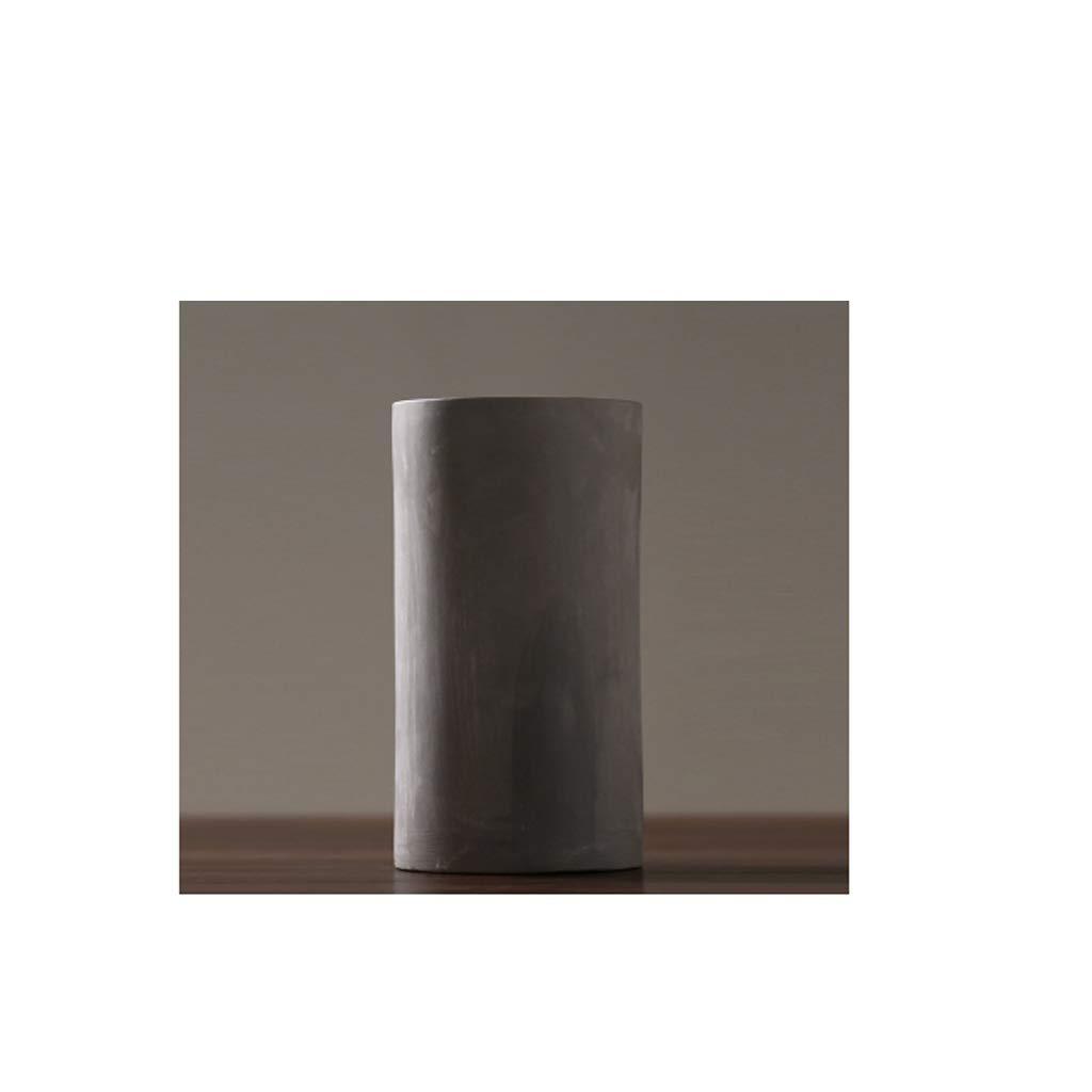 リビングルームの寝室の研究の装飾に適した花瓶セラミックつや消し花瓶繊細な質感 SHWSM (色 : ブラック) B07S2FHMHC ブラック