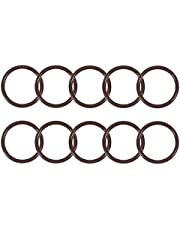 uxcell Fluorine Rubber O-Rings OD ID 2.5mm Width FKM Seal Gasket Brown 10 Pieces
