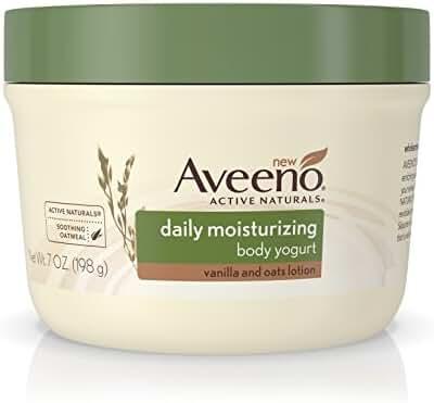 Aveeno Active Naturals Daily Moisturizing Body Yogurt Moisturizer, Vanilla And Oats, 7 Oz. (Pack of 3)