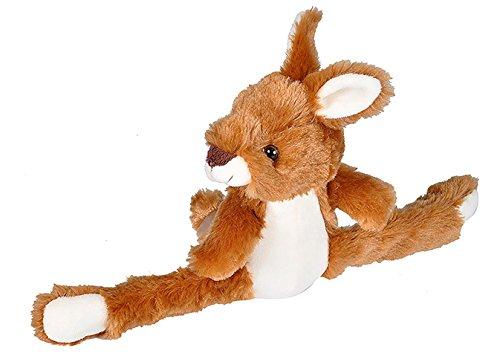 (Wild Republic Huggers Kangaroo Plush Toy, Slap Bracelet, Stuffed Animal, Kids Toys, 8