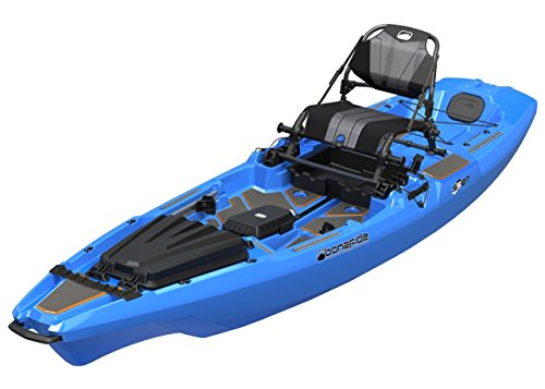 Bonafide SS127 Ultimate Sit on Top Fishing Kayak With Built in Storage , HiRise Seat , Hybrid Cat Hull Design For Maximum Stability Free Three Belles Outfitters Performance T-Shirt (Cool Hand Blue) by Bonafide