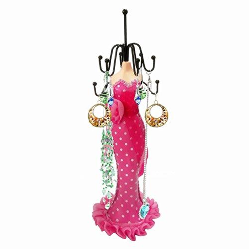 AISHN Vintage Dame Stil Dekorative Kleid Tüll Blumen Schmuckhalter 28 cm