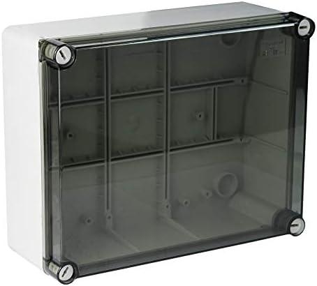 MARLANVIL - Caja estanca IP66 240 x 190 x 90 cm, tapa transparente ...