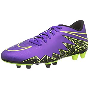 Nike Mens Hypervenom Phade II FG Firm Ground Soccer Cleats 11 1/2 US, Hyper Grape/Black