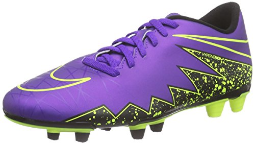 Nike Mens Hypervenom Phade II FG Firm Ground Soccer Cleats 11 1/2 US, Hyper Grape/Black