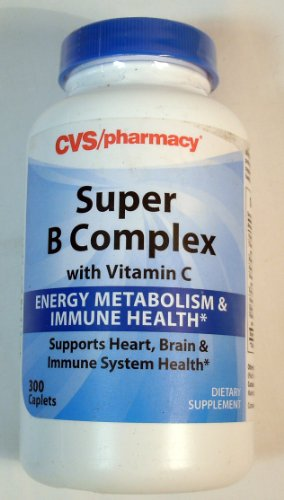 SUPER B COMPLEX WITH VITAMIN C BY CVS, ENERGY METABOLISM & IMMUNE HEALTH, 300 caplets