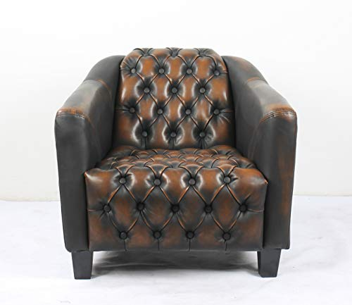 Bombay L3013AC2250 Nottingham Tufted Lounge Arm Chair Pecan