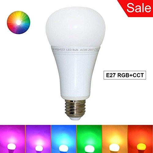 Mi Light E27 2.4G RGB+CCT 12W Dimmable LED Bulb RGBW/RGBWW Spotlight Smart Home Led Light Bulb Lamp Work with Mi.Light 8-Zone Remote and Smartphone APP Control Via Mi.Light WiFi iBox