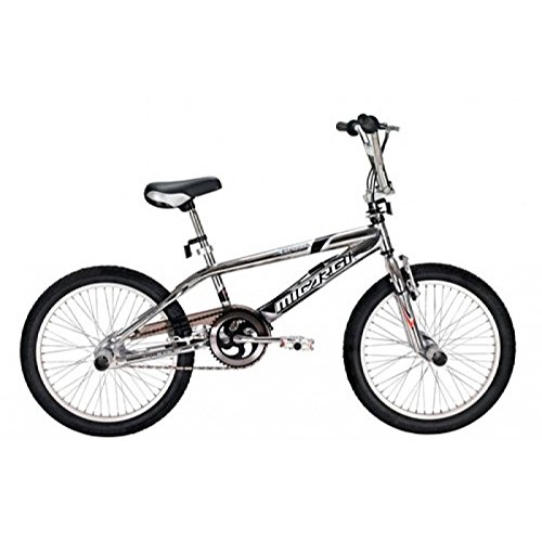 "Micargi EXPLORER-CP Men's 20"" Freestyle Steel Frame Bicycle Bike, Chrome"