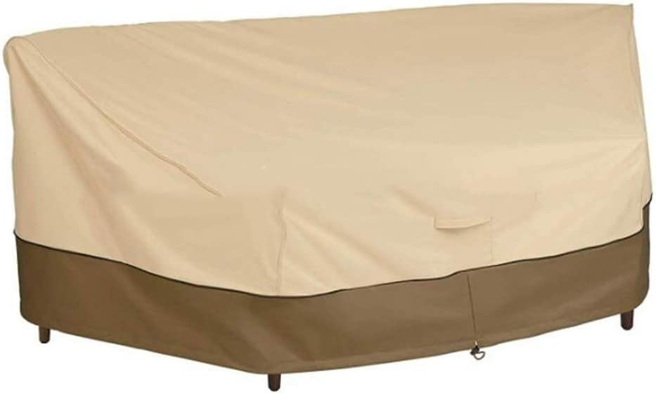WFF Patio Furniture Covers Outdoor Sofa Cover, Courtyard Fan Type Dust Cover, 210D Anti-Dirty Furniture Cover, Garden Table and Chair Cover