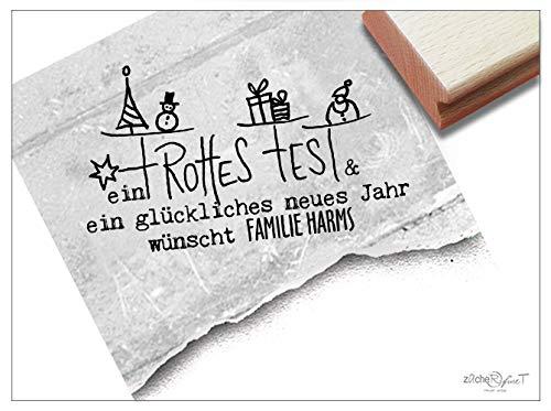 Stempel Individueller Weihnachtsstempel EIN FROHES FEST & ein ...