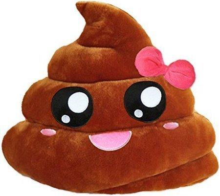 GODHL Soft Emoji Emoticon Cushion Pillow Stuffed Plush Toy Brown Pink Poop
