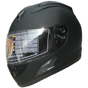 Flat Black Full Face Motorcycle Helmet - 2