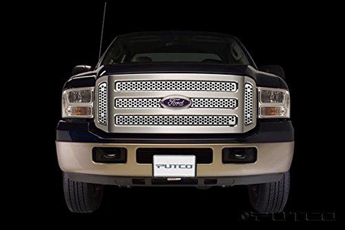 - Putco Stainless Steel Punch Grille Overlay for 2005-07 Ford F250/F350 Super Duty