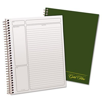 Gold Fibre Wirebound Legal Pad, 9-1/2 x 7-1/4, White, Green Cover, 84-Sheets, Sold as 1 Each, 12PACK , Total 12 Each