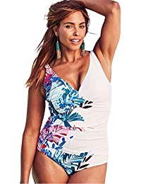 405d7e759a5 Roaman s Women s Plus Size Twist-Front Swimsuit. Swimsuits For All