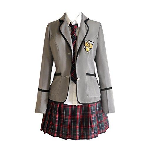 URSFUR Womens British Style Japan School Uniform Sets Cosplay Costume Anime Girl (Imp Costume)