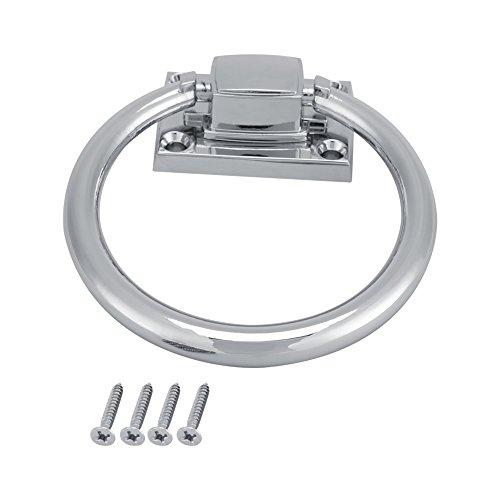 Jadpes 111x56x38MM Shiny Silver Drop Pull Ring Wooden Door Knocker Chair Pulls Handle Home Renovation