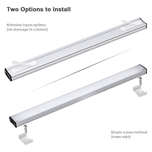 LED Under Cabinet Lighting Touch Control, Dimmable Under Counter Light Strips for Kitchen Closet, Shelf, 3pc Light Bars Kit, 12W 1200 Lumen, 4000K Nature White by YOUTHINK (Image #4)