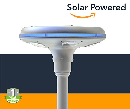 Solar Powered Bollard Garden Lights - 8