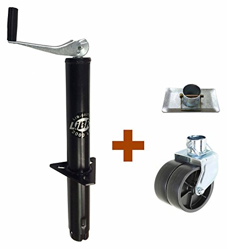 Libra New 2000 lbs A Frame Topwind Trailer Jack with Foot Plate & 6