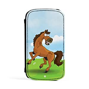 Horse Carcasa Protectora Premiun PU en Cuero, con Tapa para Samsung® Galaxy S3 de Nick Greenaway + Se incluye un protector de pantalla transparente GRATIS
