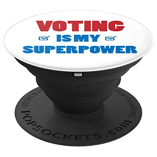 (Voting Is My Superpower Pop Socket - PopSockets Grip and Stand for Phones and Tablets)