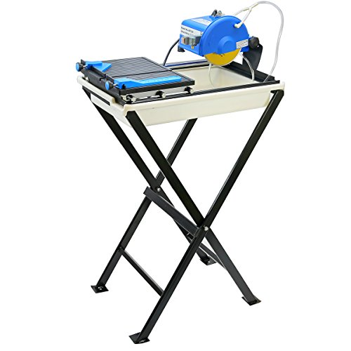 Stark Professional 7'-inch Ceramic Tile Saw with Stand Blade and Guide Machine Wet Tile Cutter Set