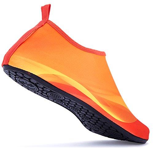 Giotto Sport Water Schoenen Zwemmen Yoga Beach Aqua Sokken Voor Vrouwen Mannen Helder / Oranje