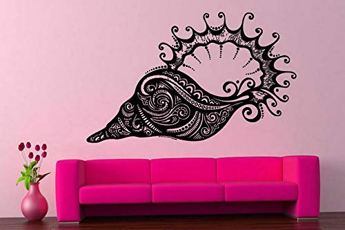 - Tomikko Wall Vinyl Sticker Decals Mural Room Design Art Seashell Sea Ocean Decor bo743 | Model DCR - 196